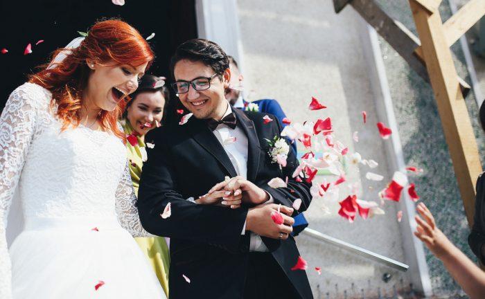 結婚式退場シーン