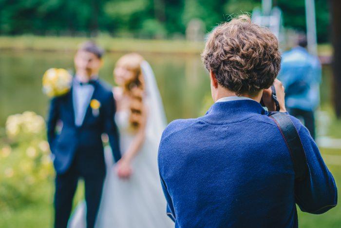 結婚式のシーン写真撮影